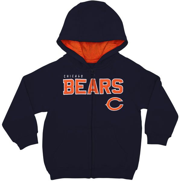 Chicago Bears Toddler Fan Gear Stated Full Zip Hoodie - Navy Blue - $23.99