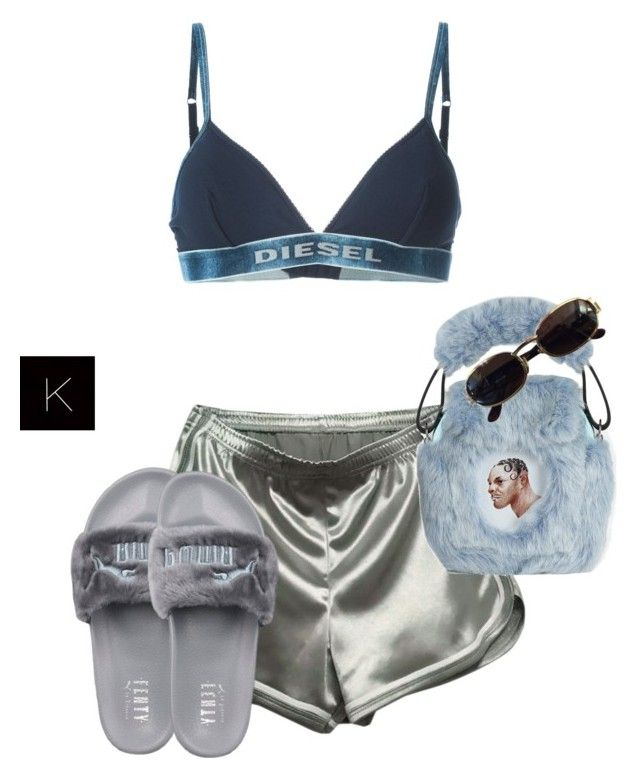 """""""Untitled #3634"""" by kimberlythestylist ❤ liked on Polyvore featuring Diesel, WithChic, Puma, Nasir Mazhar and Versace"""