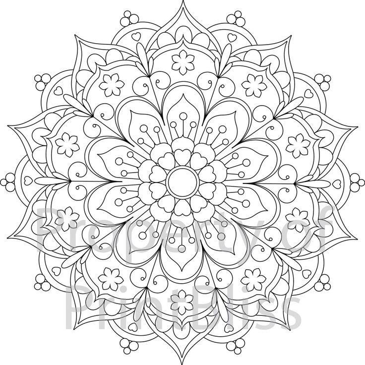 24 Excellente Image De Pages A Colorier Mandalas Mandala Ausmalen Mandala Zum Ausdrucken Blumenzeichnungen