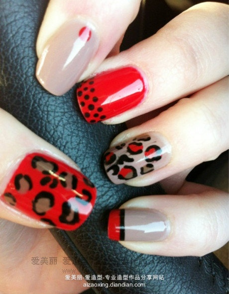 Love the red with with the leopard print!