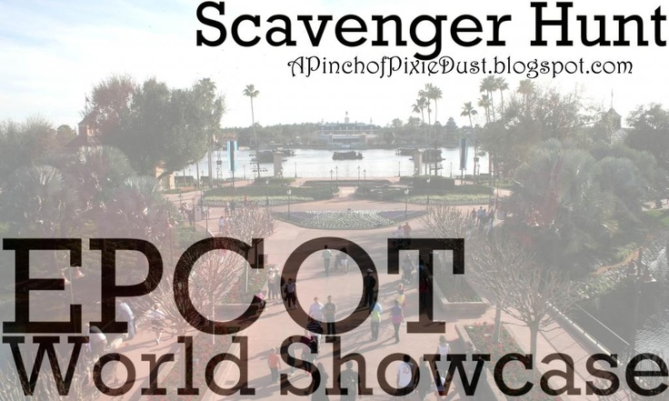 Epcot Scavenger Hunt Ideas around World Showcase