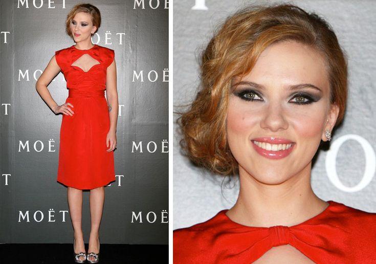 Trucco da abbinare ad un vestito rosso e nero
