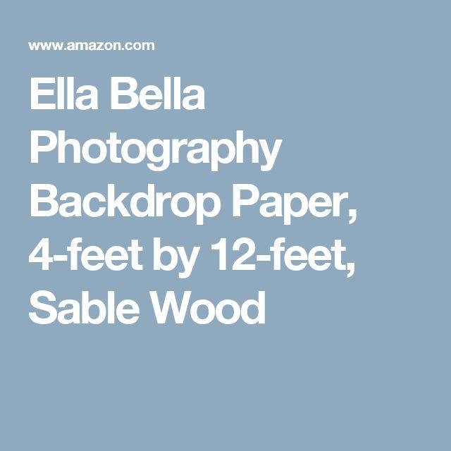Ella Bella Photography Backdrop Paper, 4-feet by 12-feet, Sable Wood