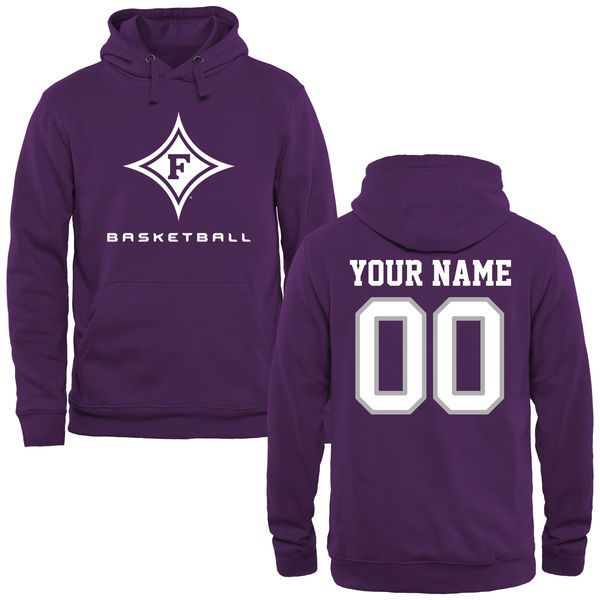Furman Paladins Personalized Basketball Pullover Hoodie - Purple - $69.99