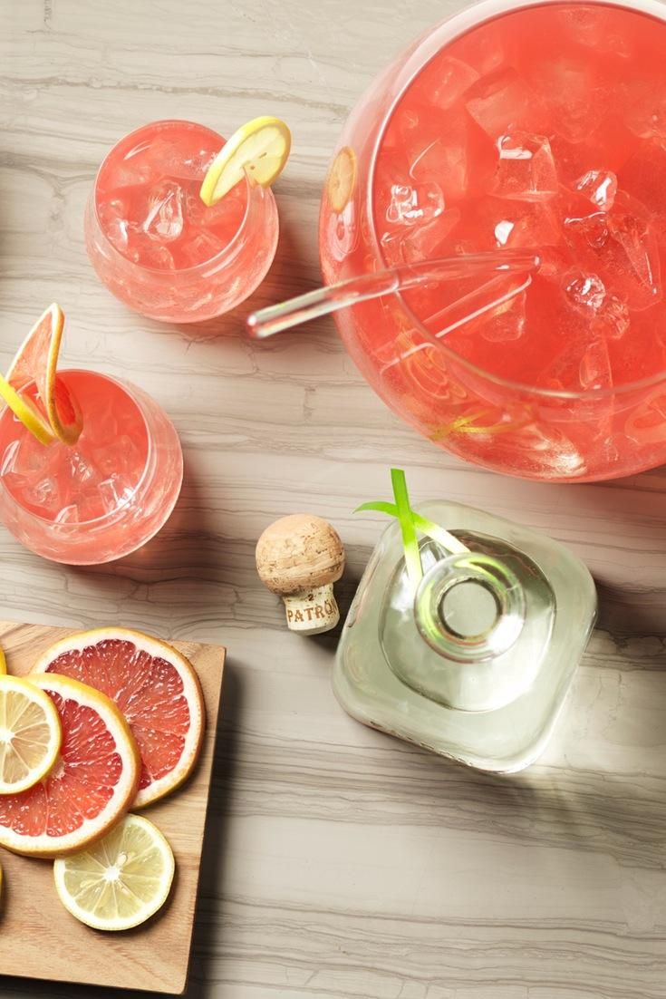 Two large-batch tequila punches you can make in advance.
