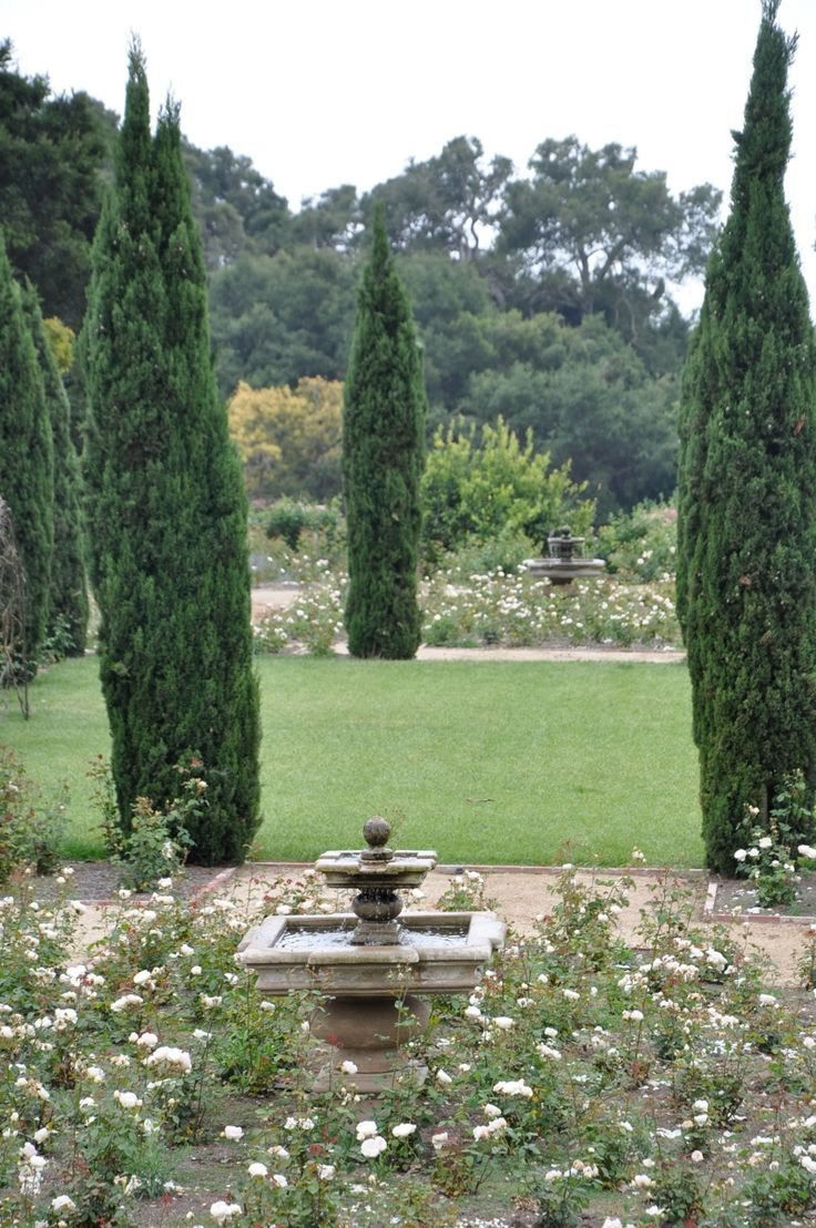 green and white gardens: White Gardens, Rose, Linens Blog, Inspiration Gardens, Patinas Farms, Architects, Gardens Inspiration, Gardens Fountain, Cypress Trees