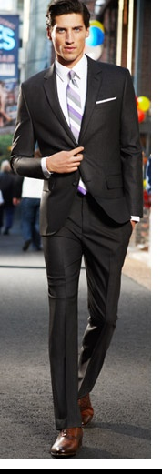 Brown shoes with dark charcoal / black suit. Fug or fab?