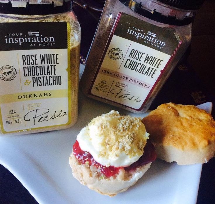 I added 3 tbsps of my YIAH Rose White Chocolate to this recipe from http://www.taste.com.au/recipes/16549/best+ever+scones Served with jam and a lovely dollop of fresh cream and perfectly topped with YIAH Rose White Chocolate & Pistachio Dukkah ...