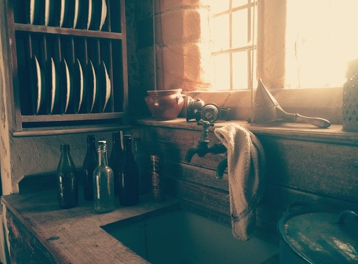 Interior of vintage kitchen