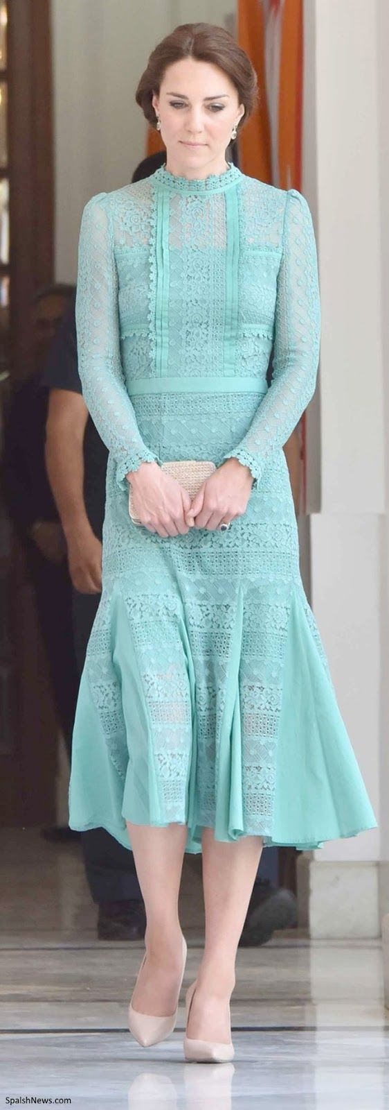 Duchess Kate: Elegant Kate in Jade Temperley London for Lunch with Prime Minister Modi & A Warm Welcome in Assam