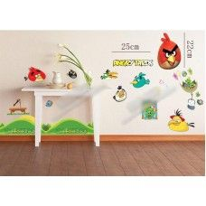 Angry Birds is a popular computer game where the birds are fired at the naughty pigs to try knock them down. This Angry Birds wall decal multi-pack contains some of the popular characters from the hit game.   Make Angry Birds a feature in any little kid's bedroom wall.  Available at http://kidzdecor.co.za/character-decals/angry-birds-wall-sticker