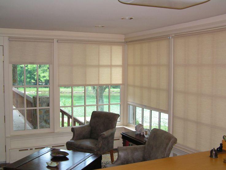Beautiful Sunroom Window Shades