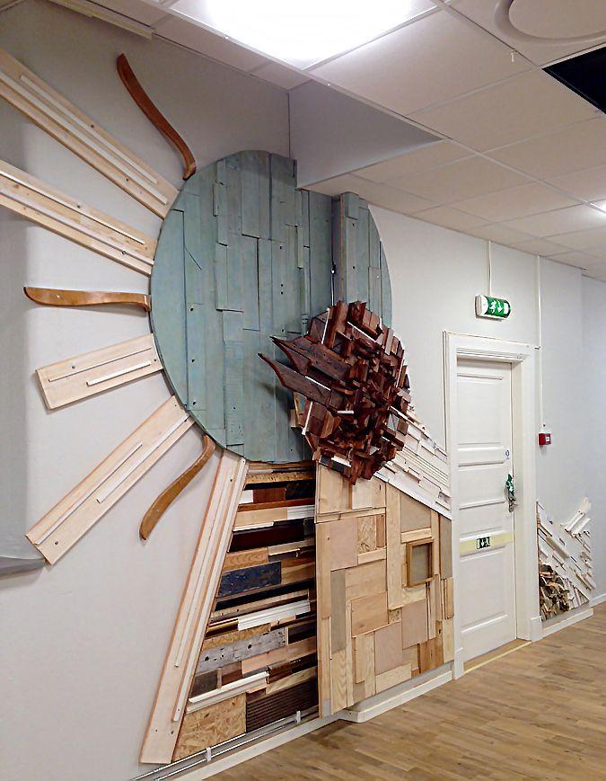 @: scrap wood wall art