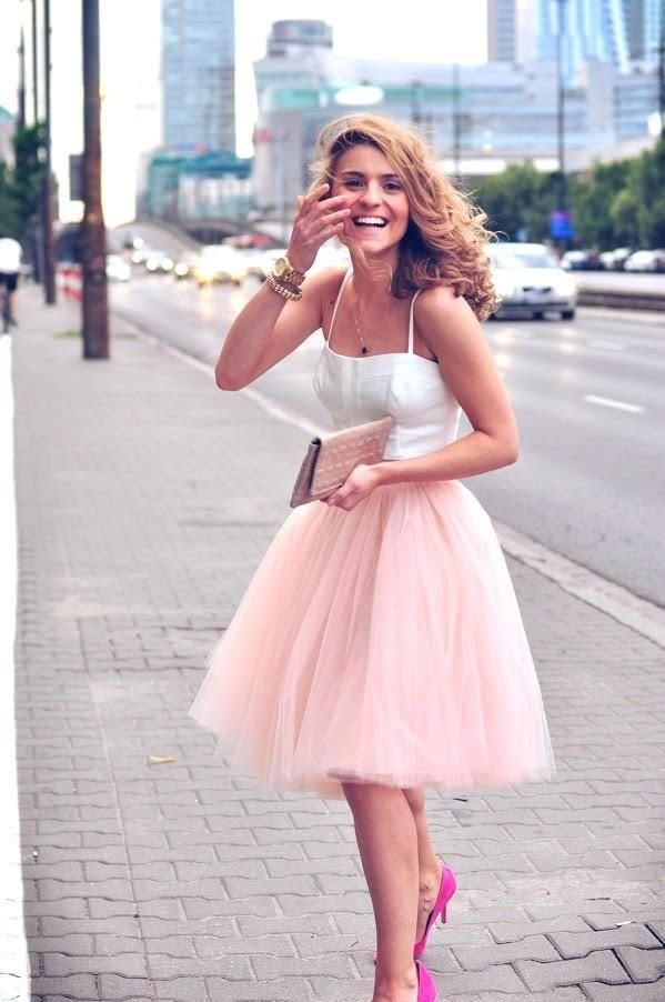 dirty pink TULLE SKIRT (volume)