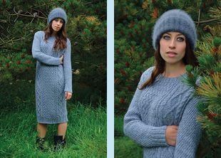 Knitted dress pattern