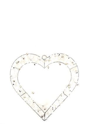 """Decorative beaded heart with battery operated lights will add a charming look and feel to any home this holiday season.<div class=""""pdpDescContent""""><BR /><b class=""""pdpDesc"""">Dimensions:</b><BR />L26xW0.5xH22 cm</div>"""