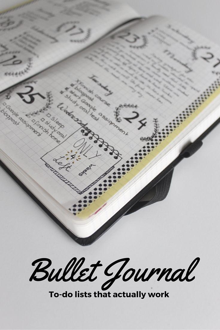 Great Bullet Journal inspiration.