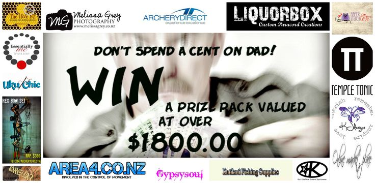 Enter to win: The Ultimate Father's Day Giveaway Valued Over $1,800.00 | http://www.dango.co.nz/s.php?u=bePkdy0q2169