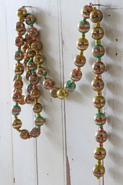 Vintage Style Glass Garland Peach Gold Was 26 Now 13 See More Star Christmas Decoration