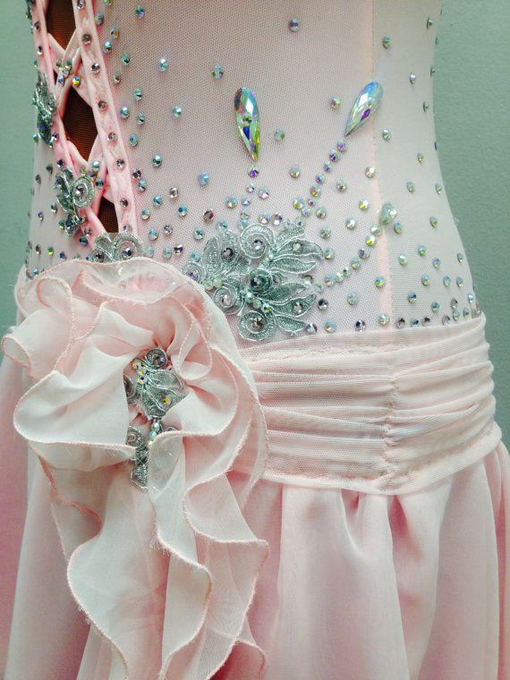 Rosa scarpe da ballo abiti da ballo rosa di DesignByNatasha