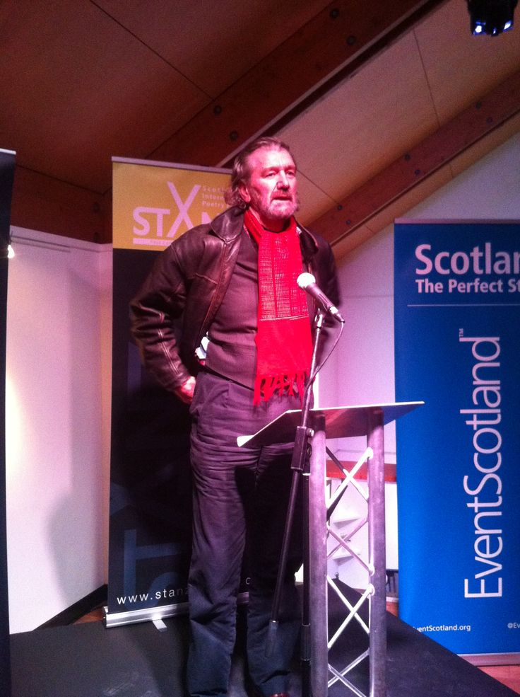 Clive Russell at StAnza launch, photo by Hannah Arnold