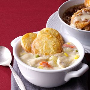 Chicken Potpie Soup Recipe from Taste of Home -- shared by Karen LeMay of Pearland, Texas