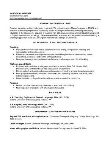 Resume Pa In English - Best opinion