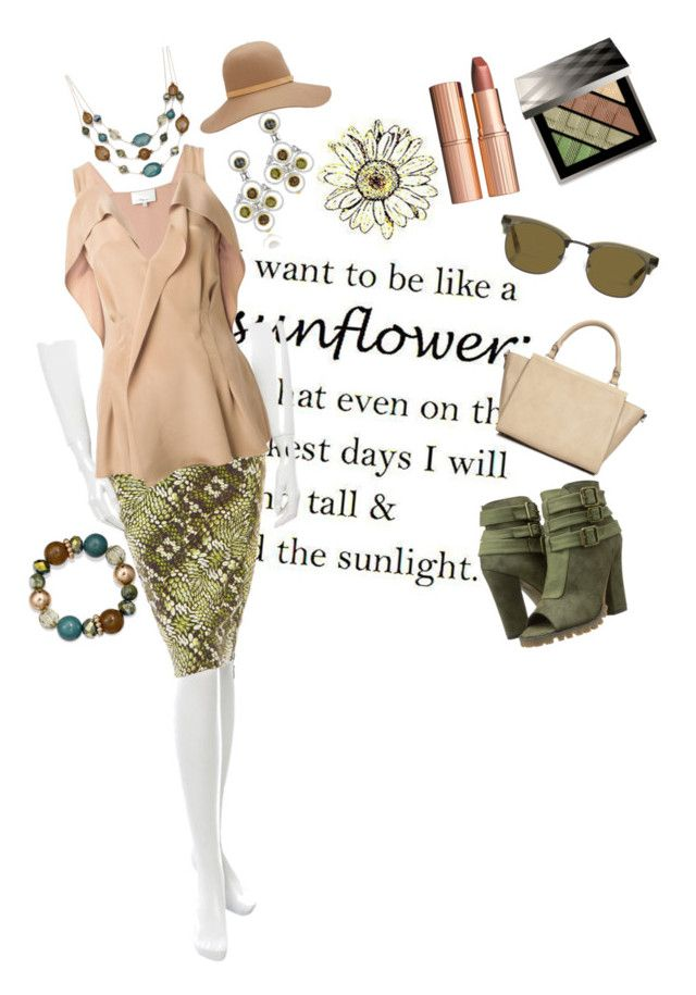 """Olive and Natural Weekend Flow"" by edna-hill on Polyvore featuring Michael Antonio, Just Cavalli, 3.1 Phillip Lim, Wallis, rag & bone, Mixit, Burberry, Charlotte Tilbury and Tacori"