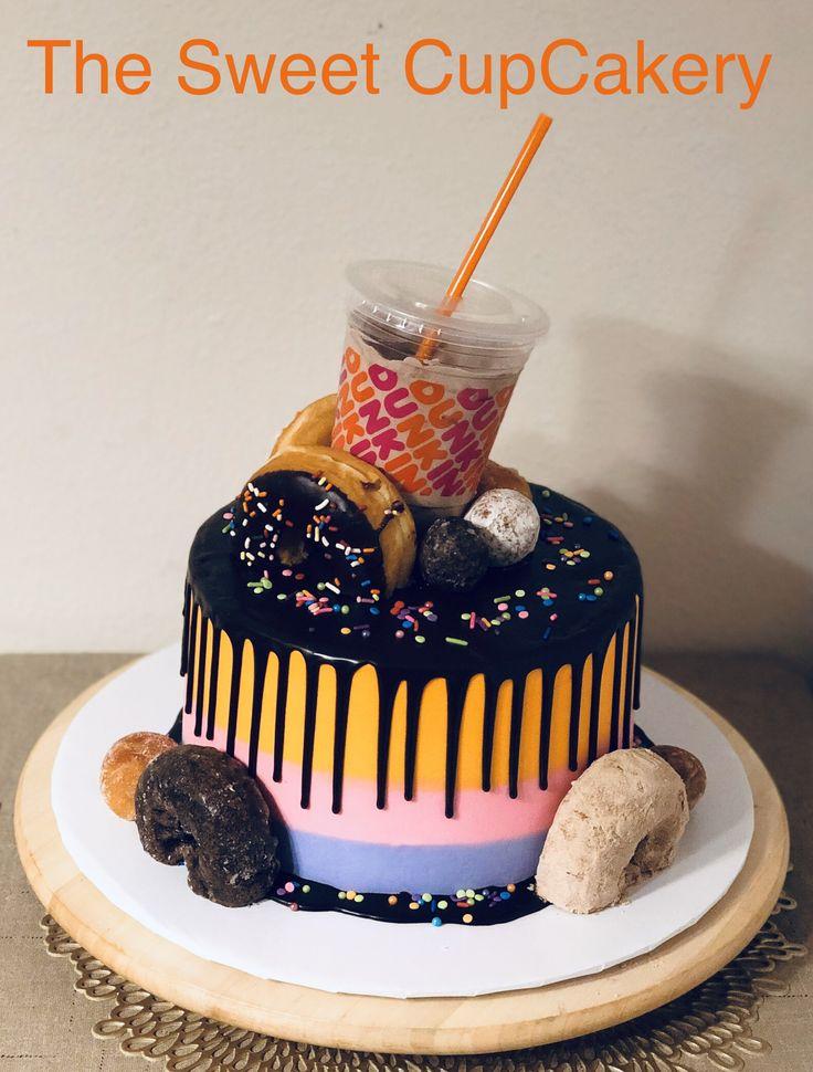 Dunkin donuts cake in 2020 dunkin donuts cake cake