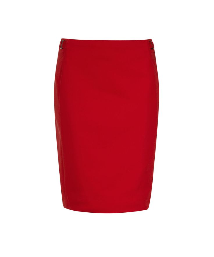 Tab Detail Pencil Skirt in Rouge #rickis #rickisfashion #loverickis #simplyparisian #winter2015 #spring2015