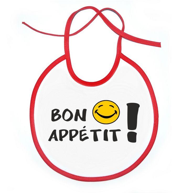 Bavoir bébé original : BON APPÉTIT !