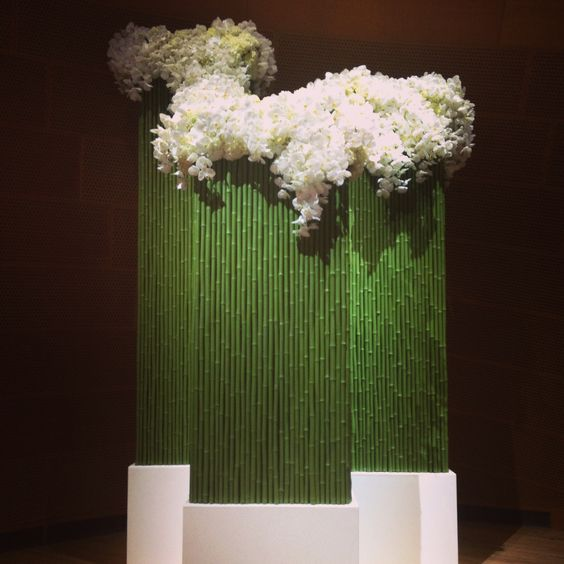Floral installation for the LA Philharmonic gala designed by Shiraz Events: