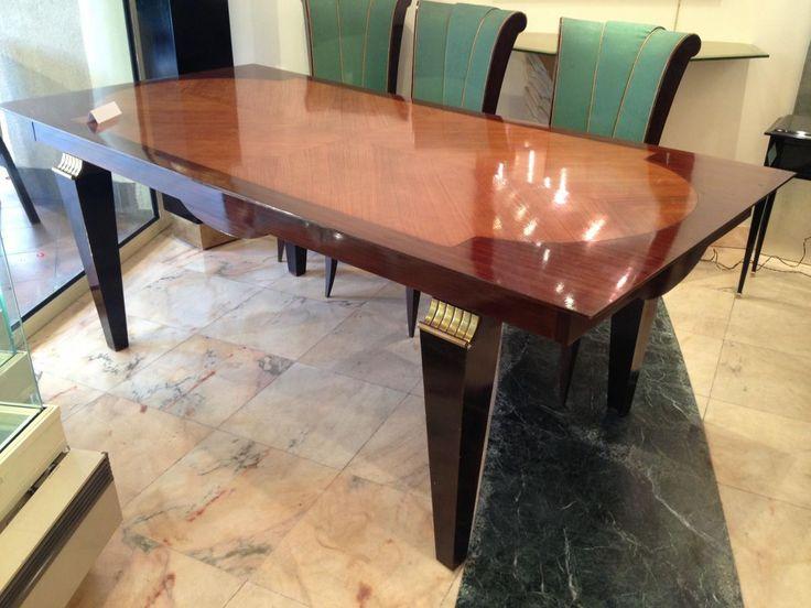 Wood Decor, Art Deco, Deco Furniture, Large Dining Tables, Art Deco