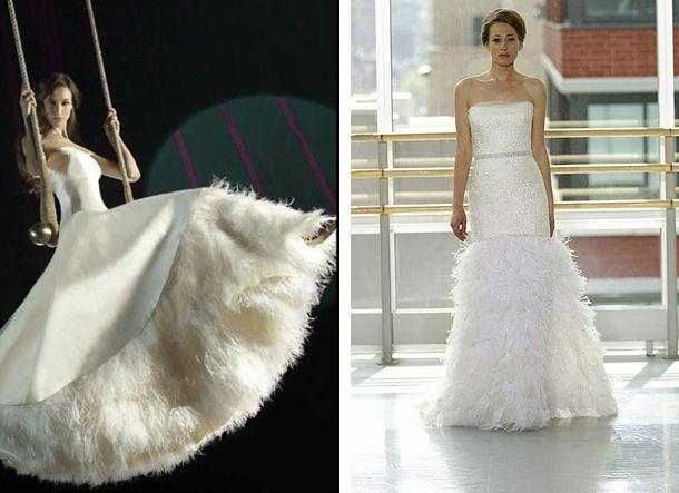 Best 25+ Feather Wedding Dresses Ideas On Pinterest
