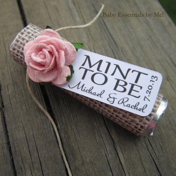 Wedding favors Set of 100 mint rolls Mint by BabyEssentialsByMel