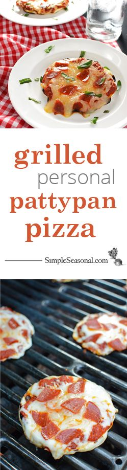 Grilled Personal Pattypan Pizza