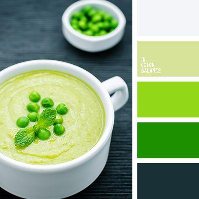 бледно-салатовый, грязно-белый цвет, зеленый, оттенки зеленого, почти белый, салатовый, серо-зеленый цвет, сине-зеленый цвет, цвет горохового супа, цвет горошка, цвет зелени, яркий зеленый.