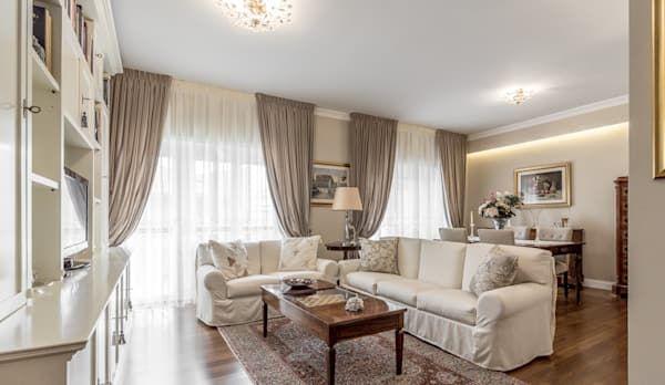 Il soggiorno open space ha il vantaggio di sembrare più grande,. Ristrutturazione Appartamento Bologna Stazione Centrale Homify Arredamento Sala Classica Arredamento Salotto Classico Soggiorno Open Space