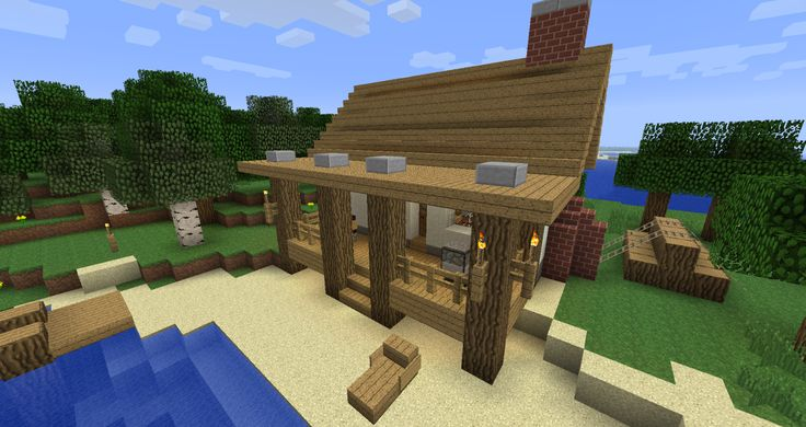 how to build a beach in minecraft
