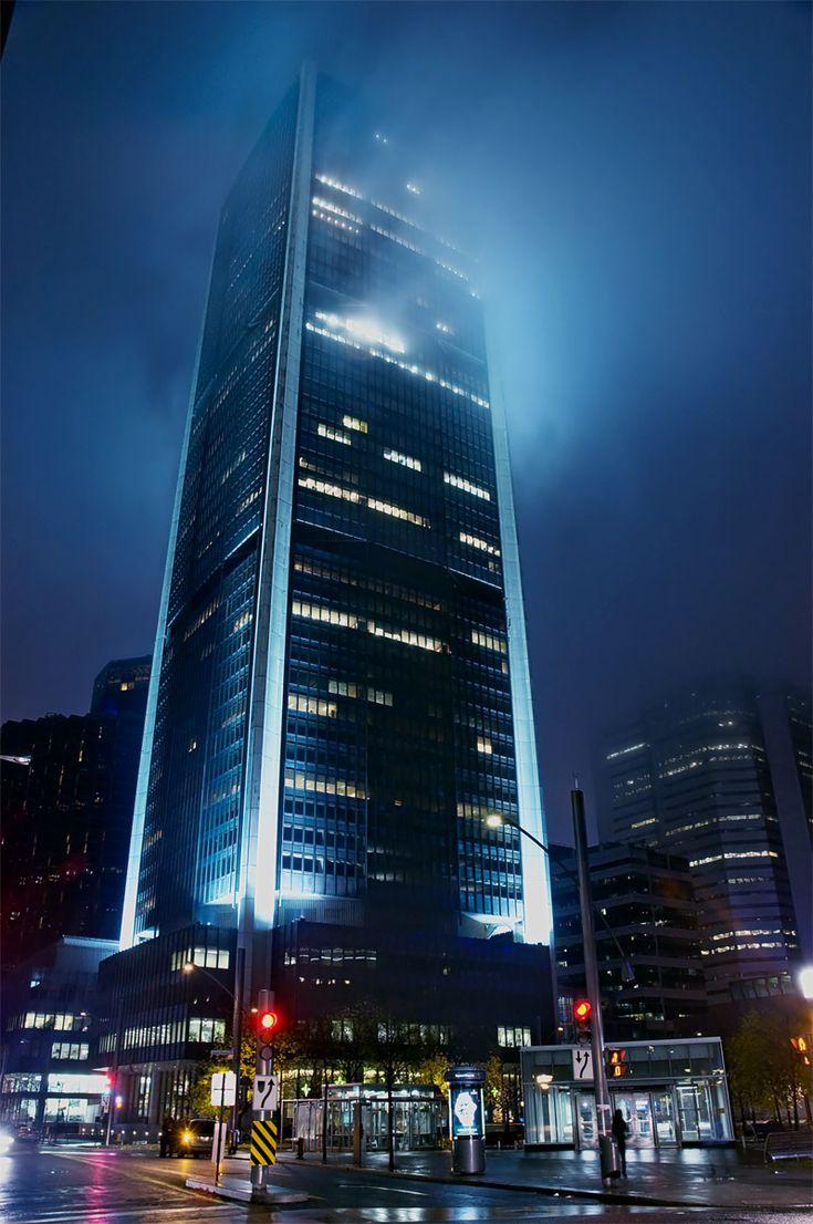 Tour de la Bourse (Stock Exchange Tower) in the Quartier international de Montréal