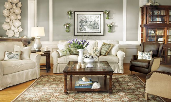Baldwin Slipcovered Living Room Furniture Collection
