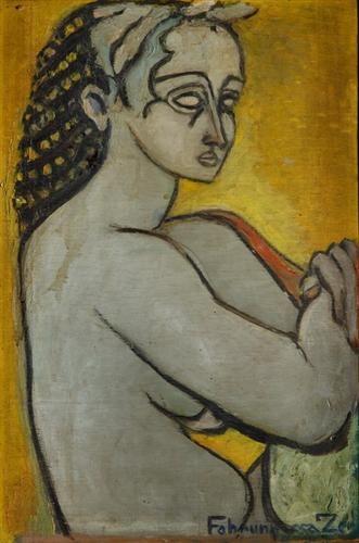 Antique portrait - Princess Fahrelnissa Zeid - Expressionism, 1940