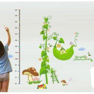 ウォール ステッカー 英字 家族の通販 Wowma! ウォールステッカー 赤ちゃん えんどう豆の木 きのこ 身長測定