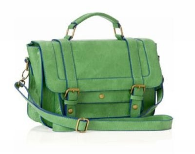 Love the bright green colurs, and the satchel-style is just SO right this season!