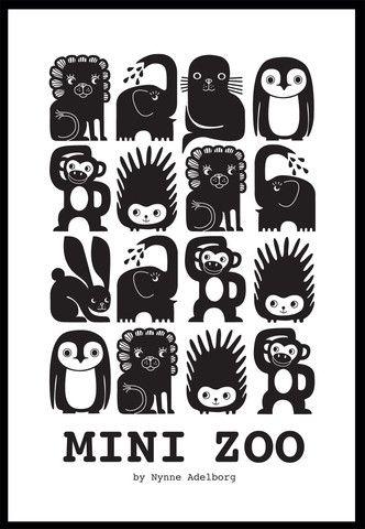 Mini Zoo Plakat, A3 – Mini Zoo by Nynne Adelborg