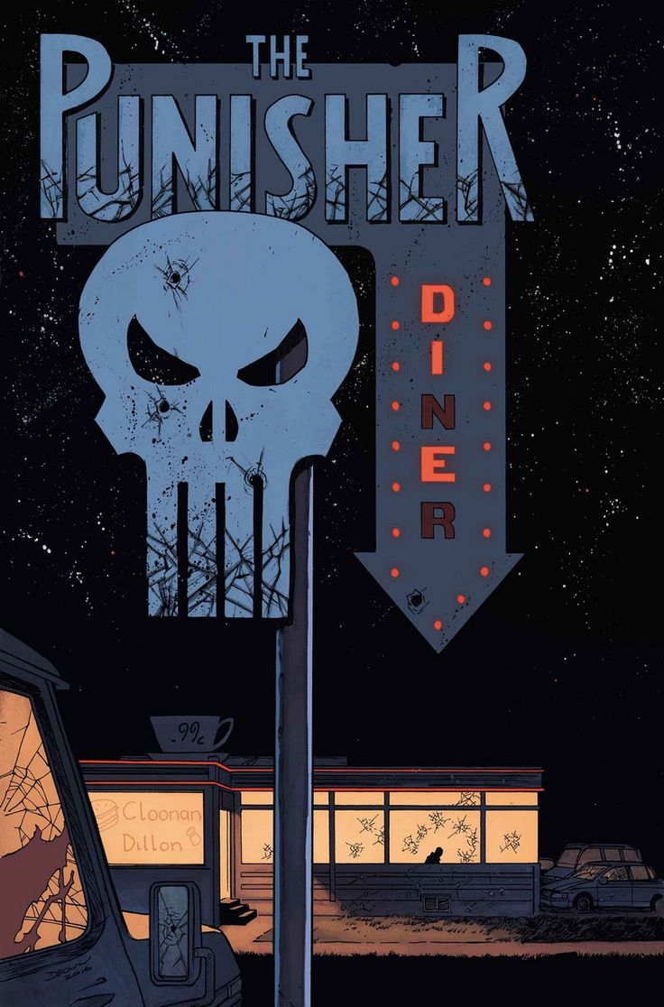 """Punisher 02. Marvel release date: June 2016. Written by Becky Cloonan. Art by Steve Dillon. Cover by Declan Shalvey. Variant cover by Vanesa Del Rey. """"Road Trip"""". Frank Castle's hunt has taken him on the road, and bodies will be left in his wake. But with a DEA agent closing in on him, things could get complicated…"""