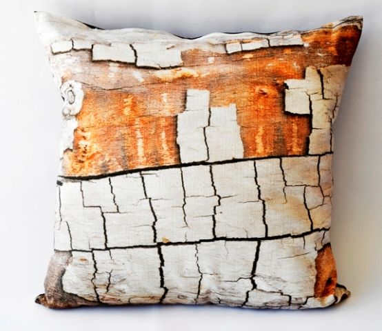 'Peeling bark' cushion - 50 x 50cm