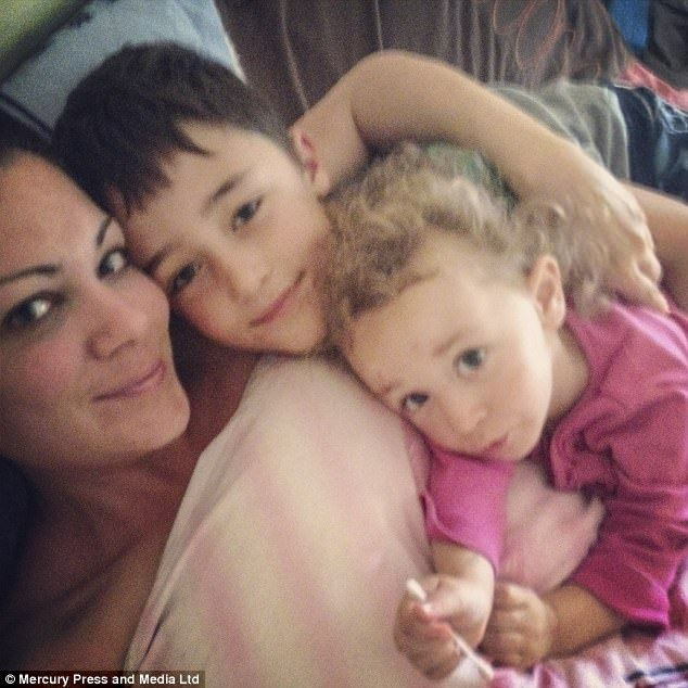 Ms Bruce (with her children Kyle, 12, and Leyla, five) claims she received a National Insurance number at 16 and has worked every day of her life since to support her family and pay her taxes