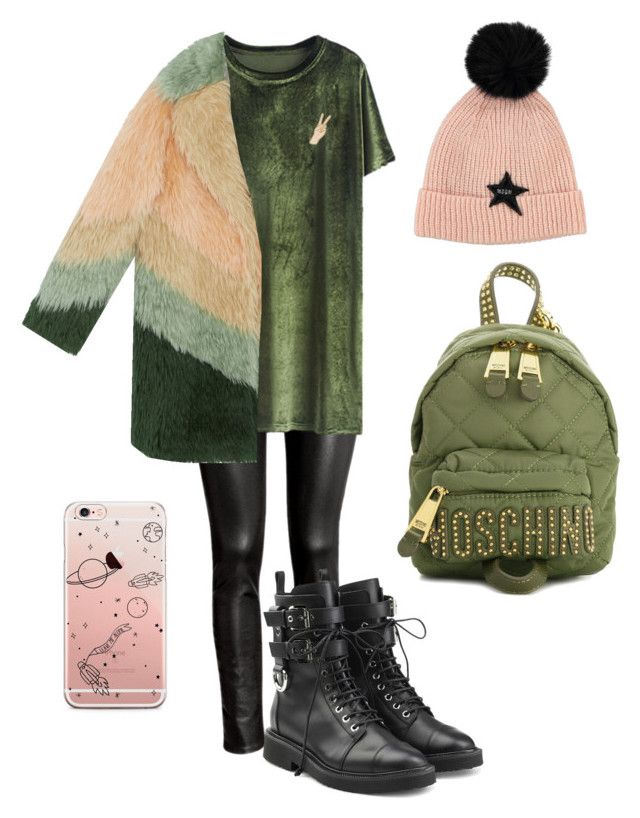"""Без названия #4"" by brinnyn-1 on Polyvore featuring мода, H&M, Giuseppe Zanotti, Lucky Brand и Moschino"