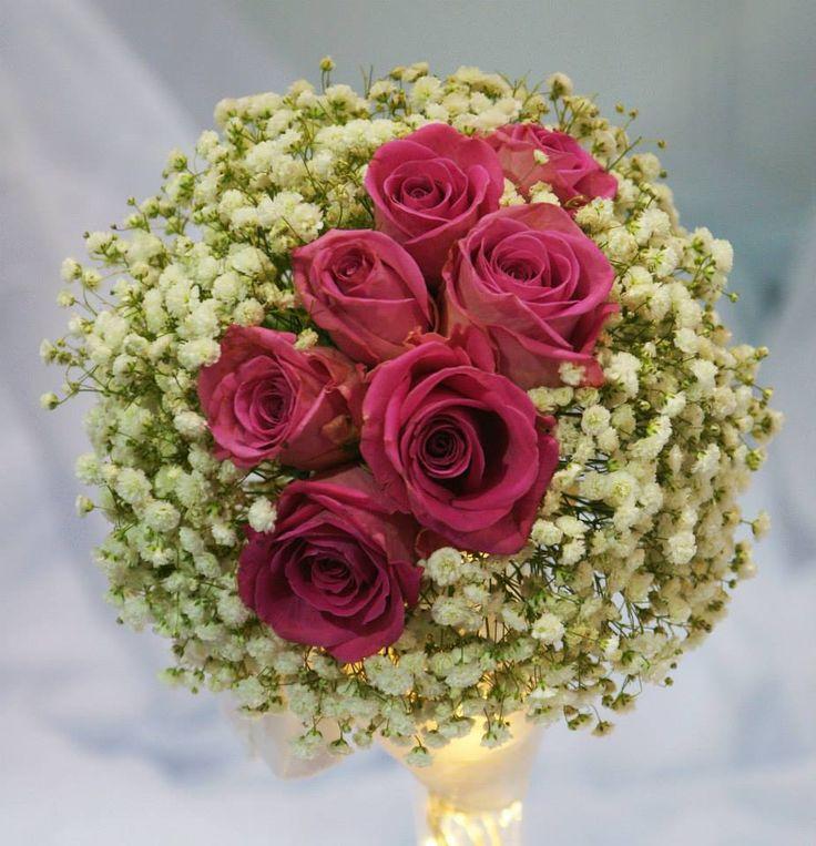 gipsówka i róże